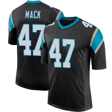 Youth Nike Carolina Panthers Jordan Mack Black Team Color 100th Vapor Untouchable Jersey - Limited