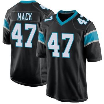 Youth Nike Carolina Panthers Jordan Mack Black Team Color Jersey - Game