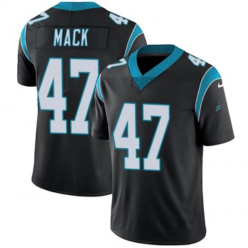 Youth Nike Carolina Panthers Jordan Mack Black Team Color Vapor Untouchable Jersey - Limited