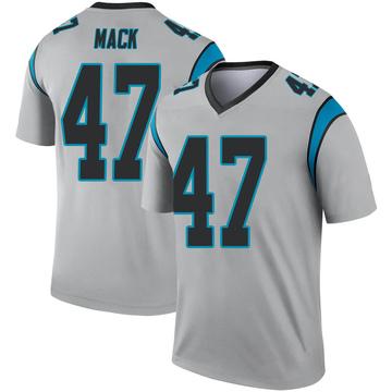 Youth Nike Carolina Panthers Jordan Mack Inverted Silver Jersey - Legend