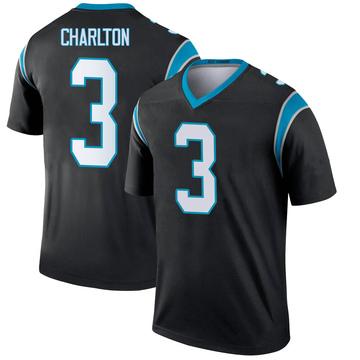 Youth Nike Carolina Panthers Joseph Charlton Black Jersey - Legend