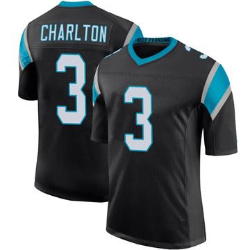Youth Nike Carolina Panthers Joseph Charlton Black Team Color 100th Vapor Untouchable Jersey - Limited