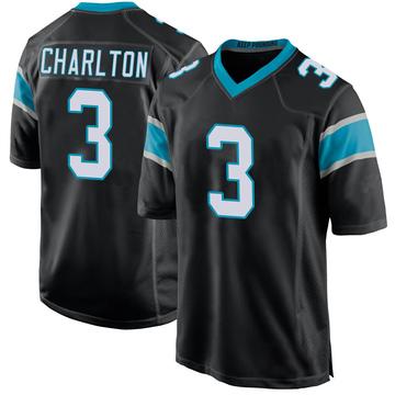 Youth Nike Carolina Panthers Joseph Charlton Black Team Color Jersey - Game