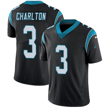 Youth Nike Carolina Panthers Joseph Charlton Black Team Color Vapor Untouchable Jersey - Limited