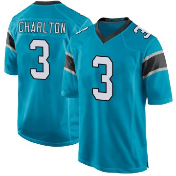 Youth Nike Carolina Panthers Joseph Charlton Blue Alternate Jersey - Game
