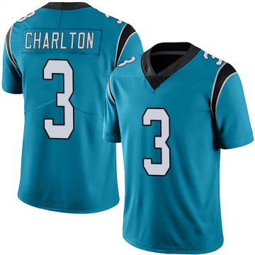Youth Nike Carolina Panthers Joseph Charlton Blue Alternate Vapor Untouchable Jersey - Limited
