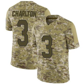 Youth Nike Carolina Panthers Joseph Charlton Camo 2018 Salute to Service Jersey - Limited