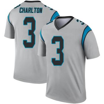 Youth Nike Carolina Panthers Joseph Charlton Inverted Silver Jersey - Legend