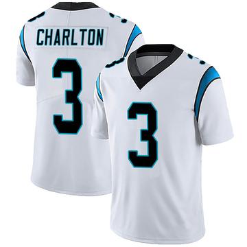 Youth Nike Carolina Panthers Joseph Charlton White Vapor Untouchable Jersey - Limited