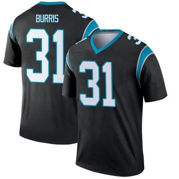 Youth Nike Carolina Panthers Juston Burris Black Jersey - Legend