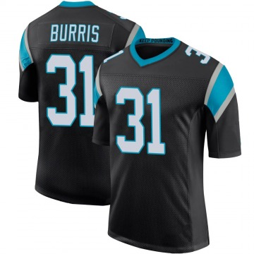 Youth Nike Carolina Panthers Juston Burris Black Team Color 100th Vapor Untouchable Jersey - Limited