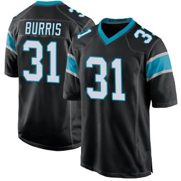 Youth Nike Carolina Panthers Juston Burris Black Team Color Jersey - Game
