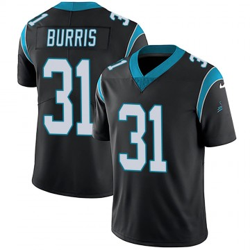 Youth Nike Carolina Panthers Juston Burris Black Team Color Vapor Untouchable Jersey - Limited