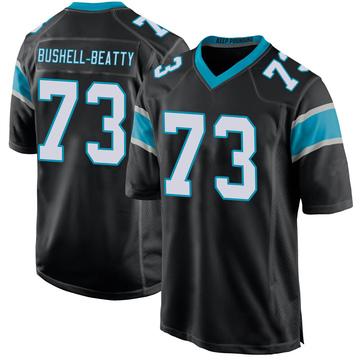 Youth Nike Carolina Panthers Juwann Bushell-Beatty Black Team Color Jersey - Game