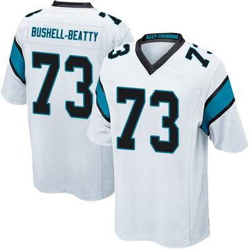 Youth Nike Carolina Panthers Juwann Bushell-Beatty White Jersey - Game