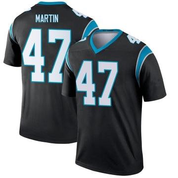 Youth Nike Carolina Panthers Kamal Martin Black Jersey - Legend