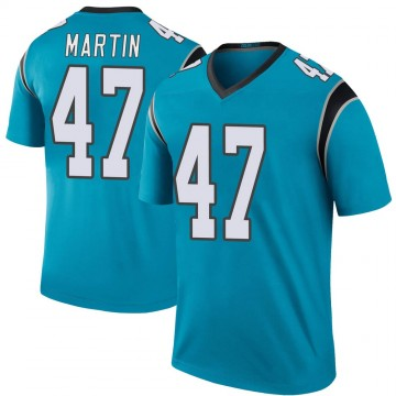 Youth Nike Carolina Panthers Kamal Martin Blue Color Rush Jersey - Legend