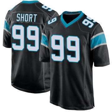 Youth Nike Carolina Panthers Kawann Short Black Team Color Jersey - Game