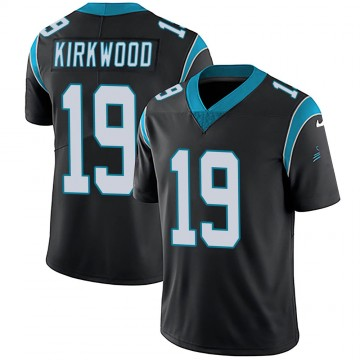 Youth Nike Carolina Panthers Keith Kirkwood Black Team Color Vapor Untouchable Jersey - Limited