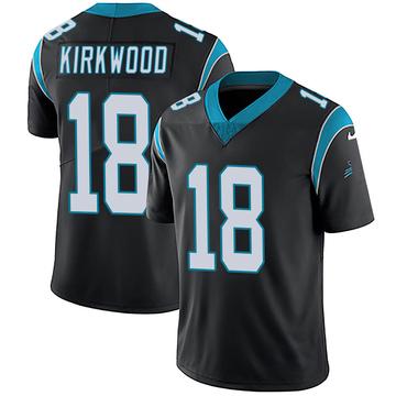 Youth Nike Carolina Panthers Keith Kirkwood Black Team Color Vapor Untouchable Jersey - Limited