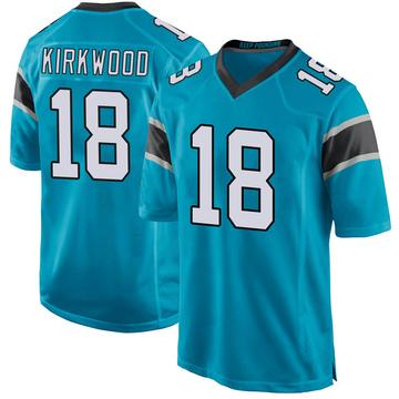 Youth Nike Carolina Panthers Keith Kirkwood Blue Alternate Jersey - Game