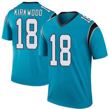 Youth Nike Carolina Panthers Keith Kirkwood Blue Color Rush Jersey - Legend