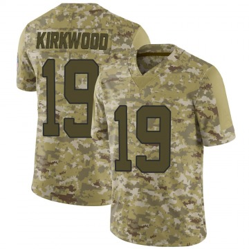 Youth Nike Carolina Panthers Keith Kirkwood Camo 2018 Salute to Service Jersey - Limited