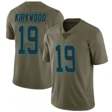 Youth Nike Carolina Panthers Keith Kirkwood Green 2017 Salute to Service Jersey - Limited