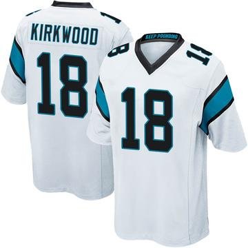 Youth Nike Carolina Panthers Keith Kirkwood White Jersey - Game