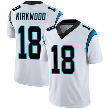 Youth Nike Carolina Panthers Keith Kirkwood White Vapor Untouchable Jersey - Limited