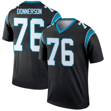 Youth Nike Carolina Panthers Kendall Donnerson Black Jersey - Legend