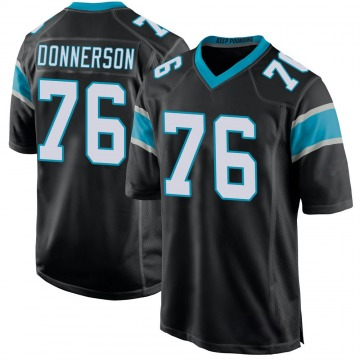 Youth Nike Carolina Panthers Kendall Donnerson Black Team Color Jersey - Game