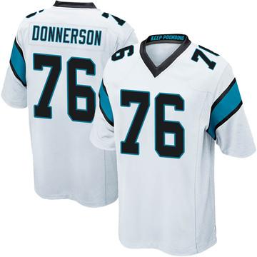Youth Nike Carolina Panthers Kendall Donnerson White Jersey - Game