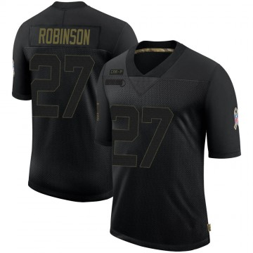 Youth Nike Carolina Panthers Kenny Robinson Black 2020 Salute To Service Jersey - Limited