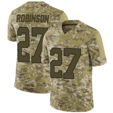 Youth Nike Carolina Panthers Kenny Robinson Camo 2018 Salute to Service Jersey - Limited