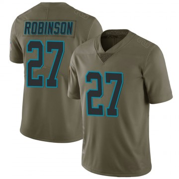 Youth Nike Carolina Panthers Kenny Robinson Green 2017 Salute to Service Jersey - Limited
