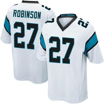 Youth Nike Carolina Panthers Kenny Robinson White Jersey - Game