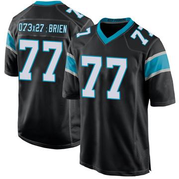 Youth Nike Carolina Panthers Kitt O'Brien Black Team Color Jersey - Game