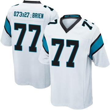 Youth Nike Carolina Panthers Kitt O'Brien White Jersey - Game