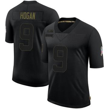 Youth Nike Carolina Panthers Krishawn Hogan Black 2020 Salute To Service Jersey - Limited