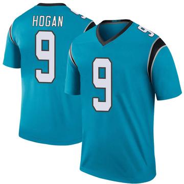 Youth Nike Carolina Panthers Krishawn Hogan Blue Color Rush Jersey - Legend