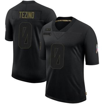 Youth Nike Carolina Panthers Kyahva Tezino Black 2020 Salute To Service Jersey - Limited