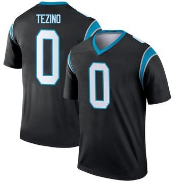 Youth Nike Carolina Panthers Kyahva Tezino Black Jersey - Legend