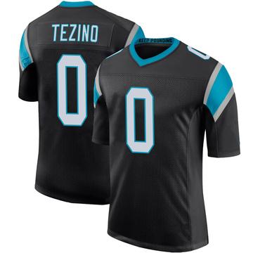 Youth Nike Carolina Panthers Kyahva Tezino Black Team Color 100th Vapor Untouchable Jersey - Limited