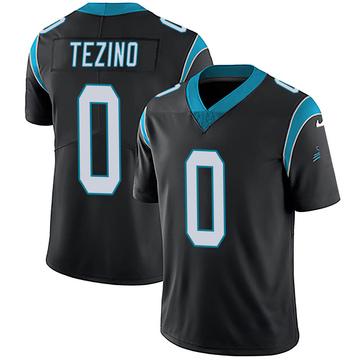 Youth Nike Carolina Panthers Kyahva Tezino Black Team Color Vapor Untouchable Jersey - Limited