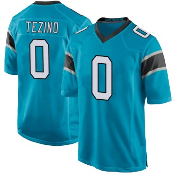 Youth Nike Carolina Panthers Kyahva Tezino Blue Alternate Jersey - Game