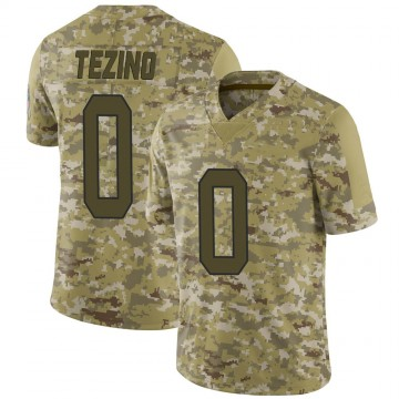Youth Nike Carolina Panthers Kyahva Tezino Camo 2018 Salute to Service Jersey - Limited