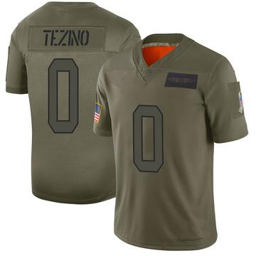 Youth Nike Carolina Panthers Kyahva Tezino Camo 2019 Salute to Service Jersey - Limited