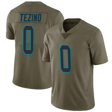 Youth Nike Carolina Panthers Kyahva Tezino Green 2017 Salute to Service Jersey - Limited