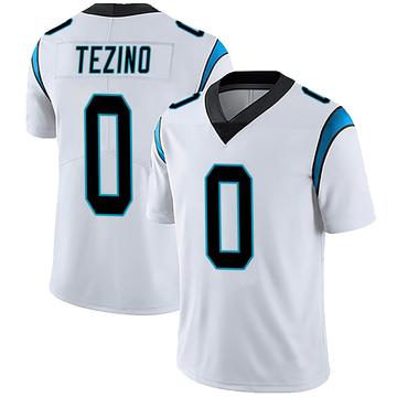 Youth Nike Carolina Panthers Kyahva Tezino White Vapor Untouchable Jersey - Limited